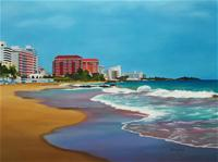 Playa Puerto Rico Painting